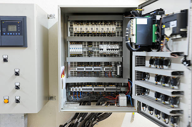 industrial electrical control panel - control panel stock photos and pictures