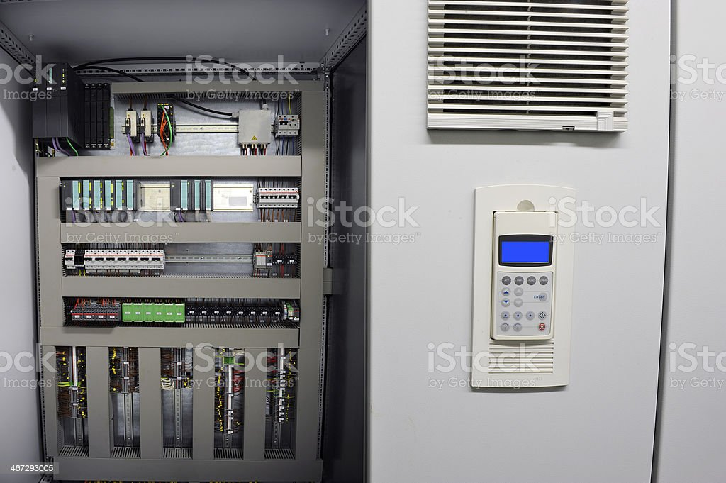 Industrial electrical control room