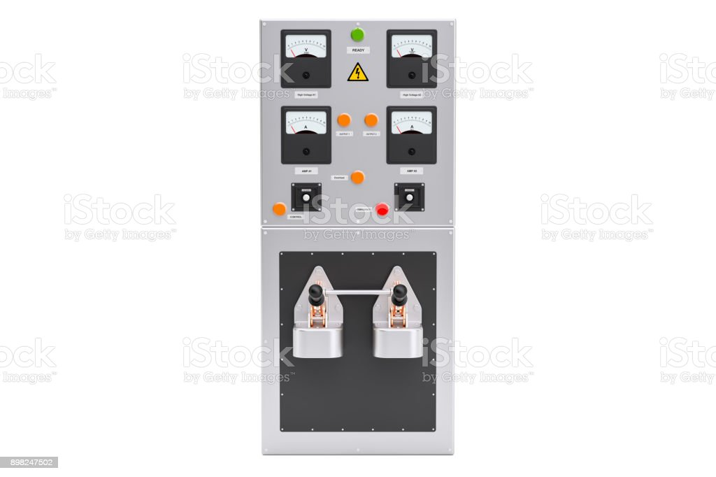 Industrial Electrical Power Panel Box 3D Rendering Royalty Free Stock Photo