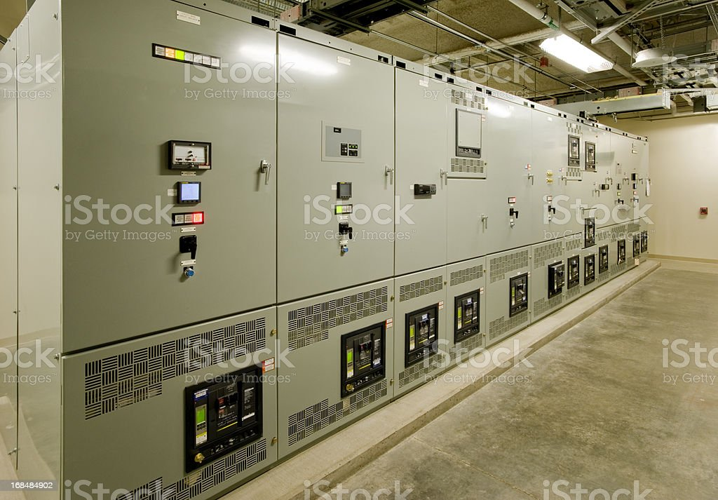 Industrial Electrical Room stock photo