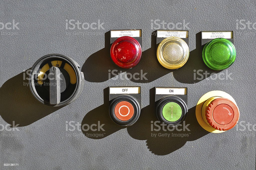 industrial electrical switch panel stock photo