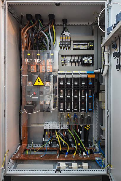 Industrial elektrischer Schalter - – Foto