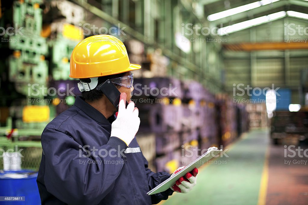 Industrial engineer royalty-free stock photo