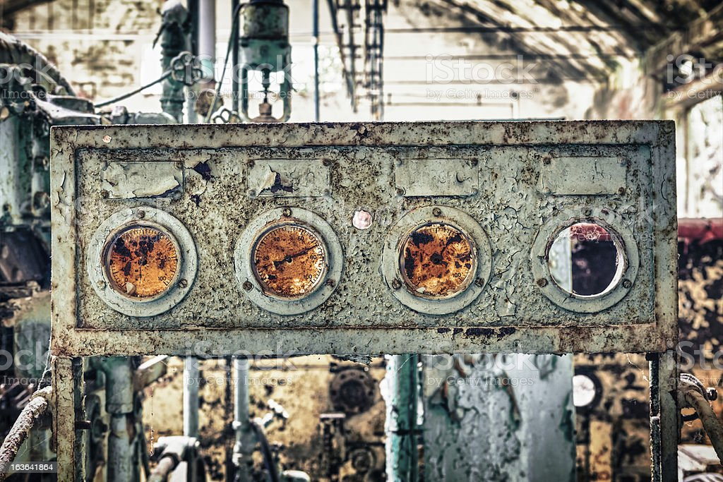 Industrial Equipment, HDR Urban Exploration royalty-free stock photo