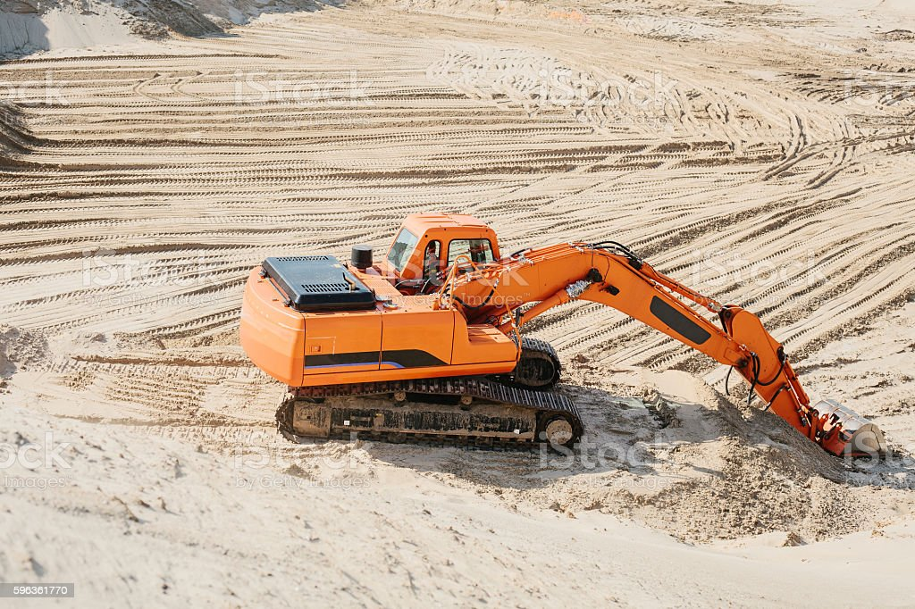Industrial extraction of sand. royalty-free stock photo