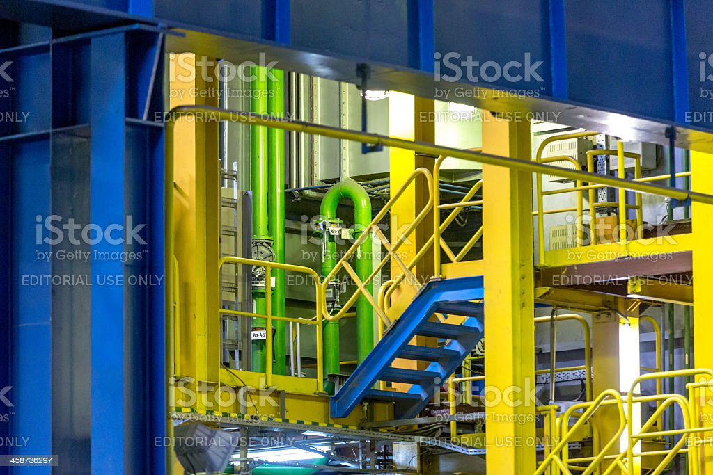 Industrial factory interior view royalty-free stock photo