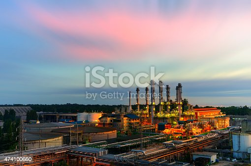 istock industrial factory with sunset. 474100660