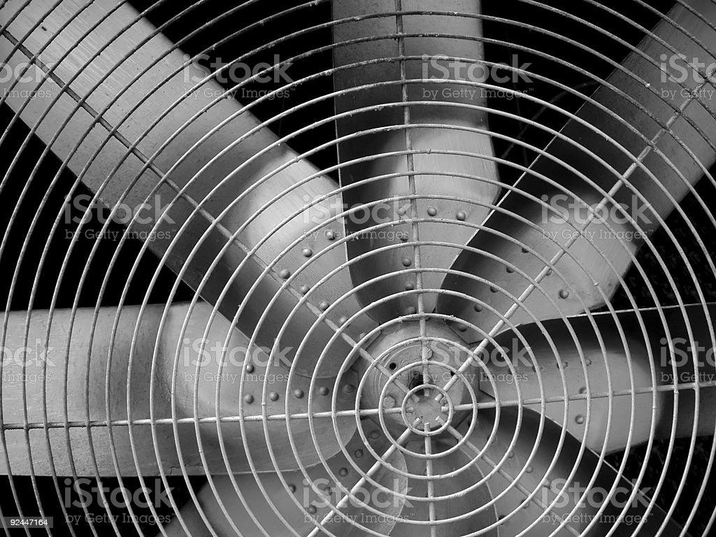 Industrial fan blades stock photo