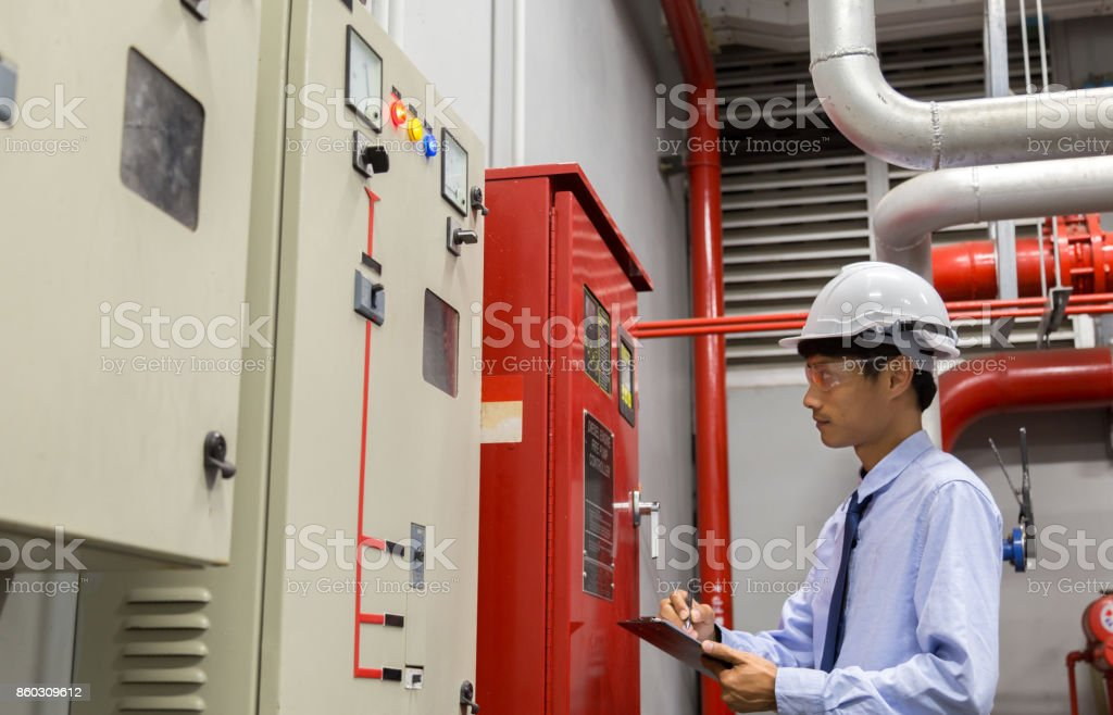 Industrial fire control system,Fire Alarm controller, Fire notifier, Anti fire. royalty-free stock photo