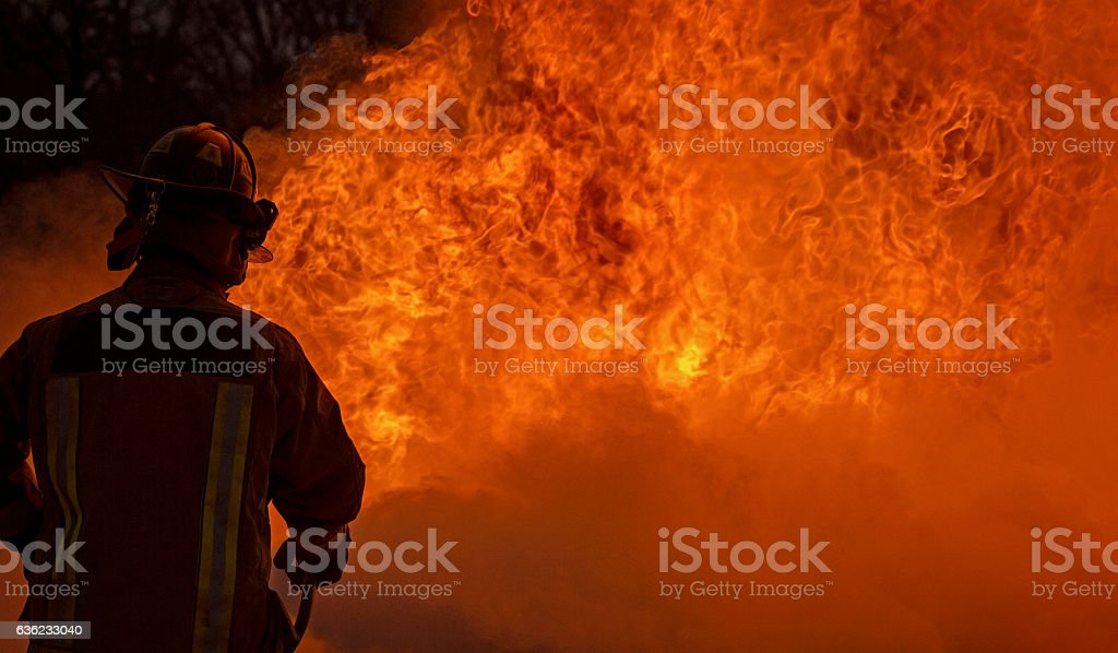Industrial Fire School for Refinery stock photo