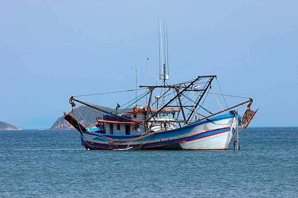 Industrial fishing boat stock photo