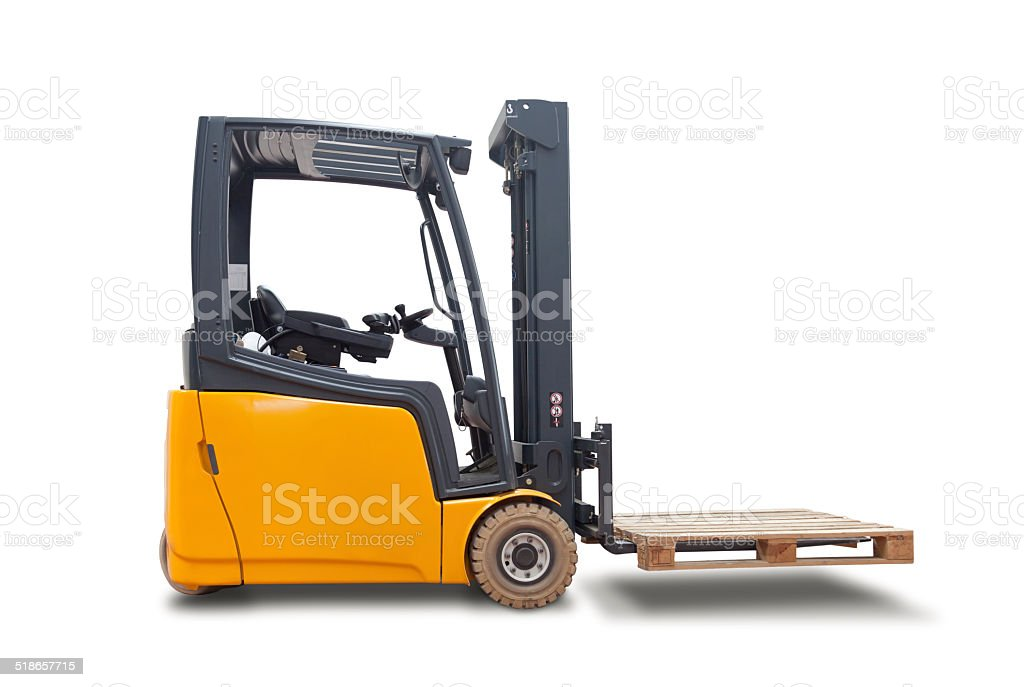 Industrial Fork Lift truck stock photo
