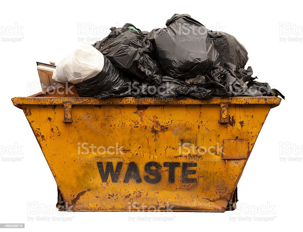 Industrial Garbage Bin with clipping path royalty-free stock photo