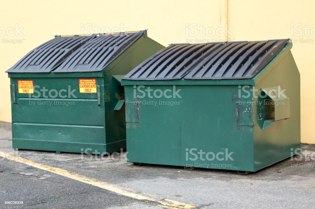 Industrial Garbage Bins for cardboard stock photo