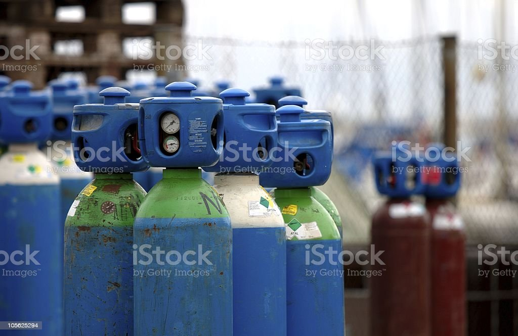 Industrial gases royalty-free stock photo