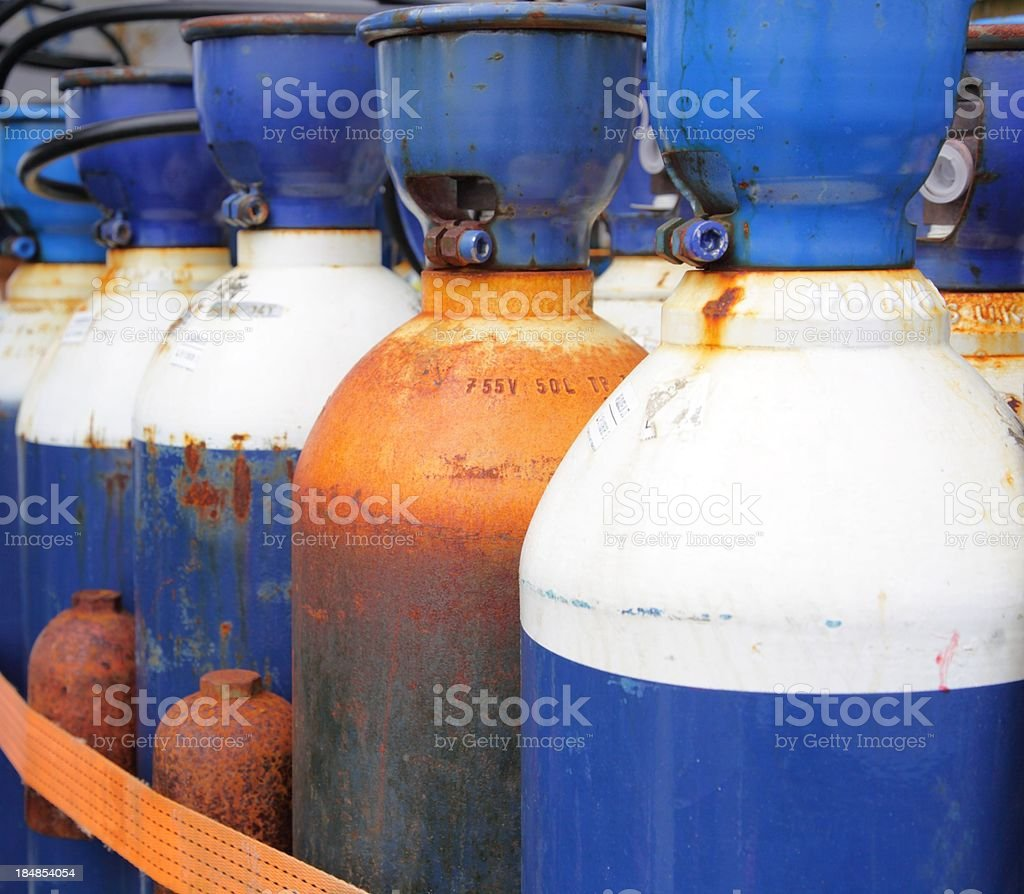 Industrial gases stock photo