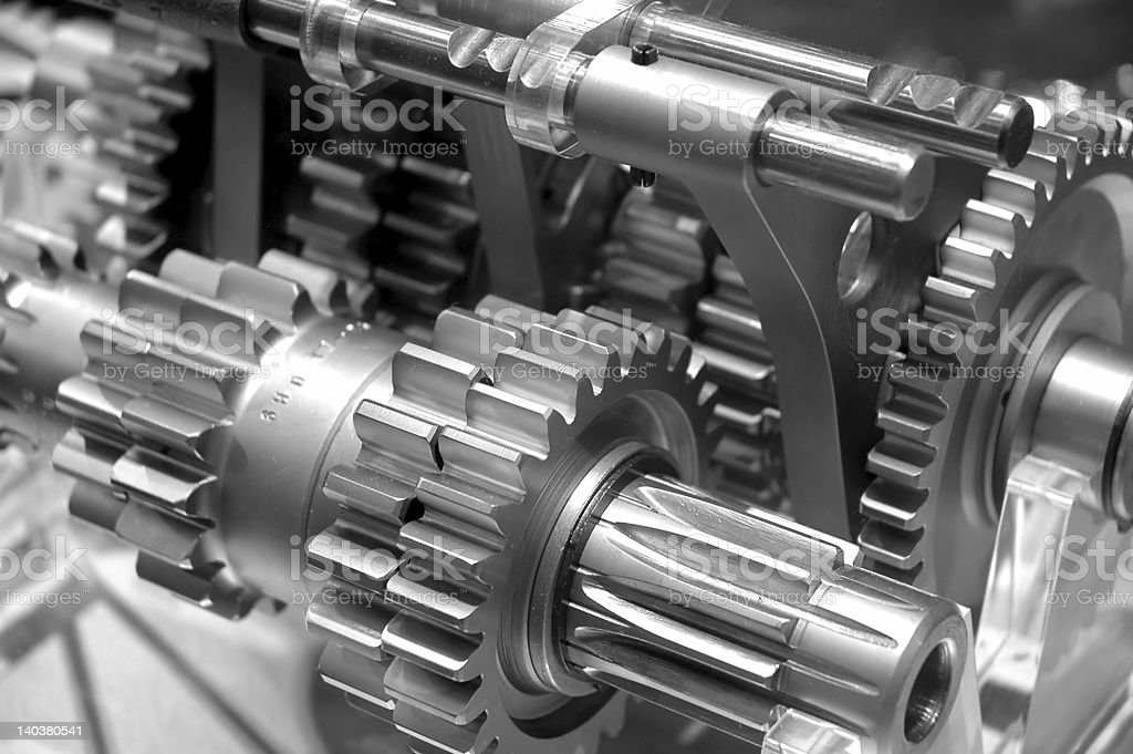 Industrial Gears Background stock photo