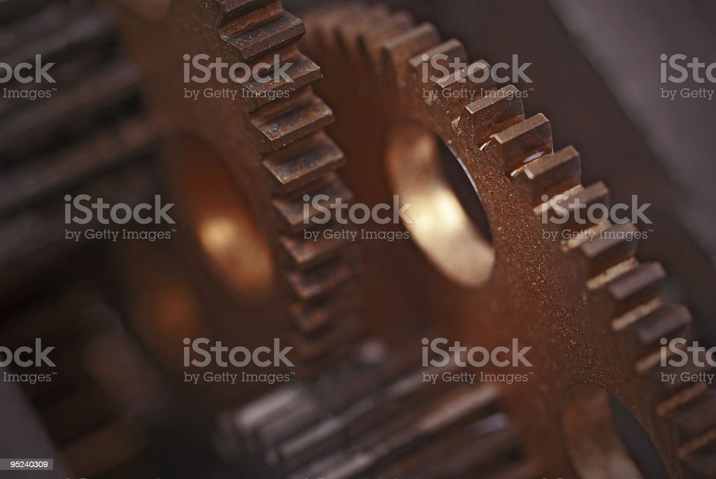 Industrial Gears Background royalty-free stock photo