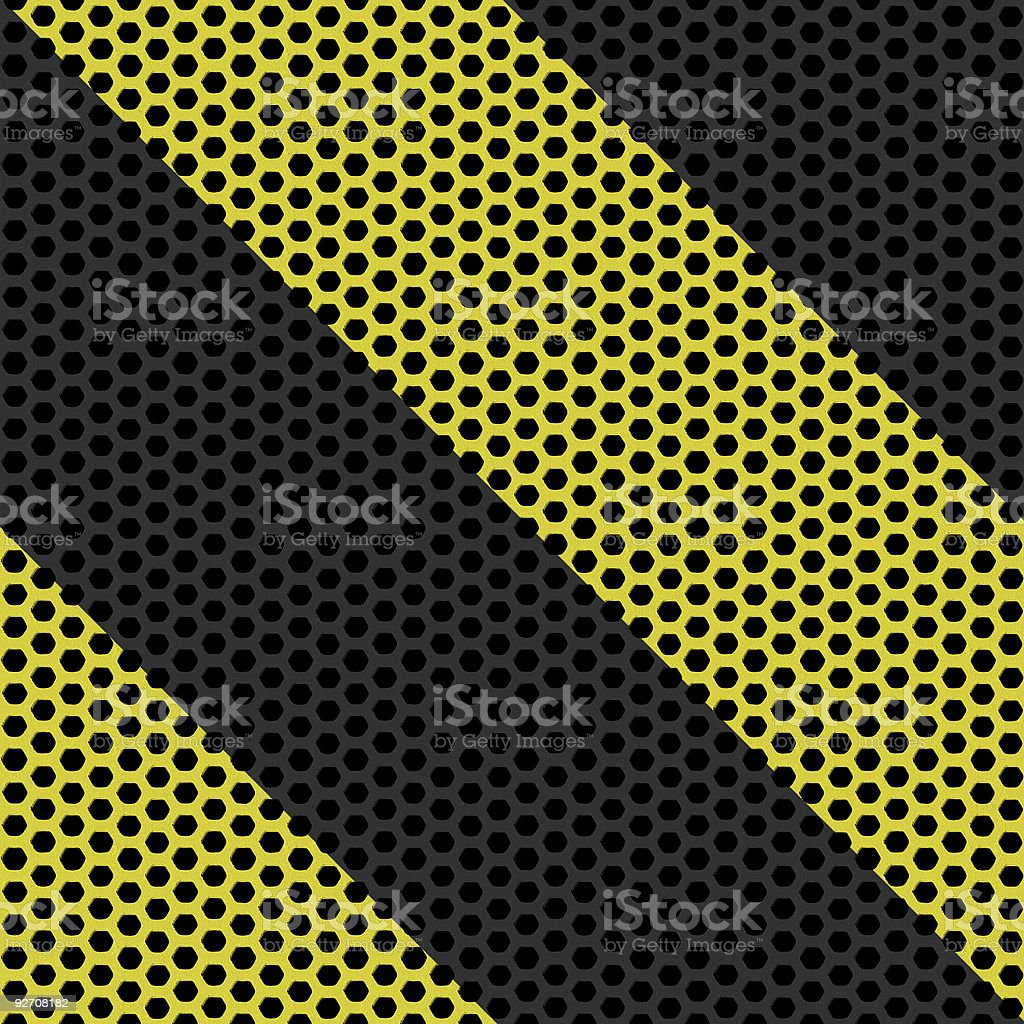 Industrial hazard grille royalty-free stock photo