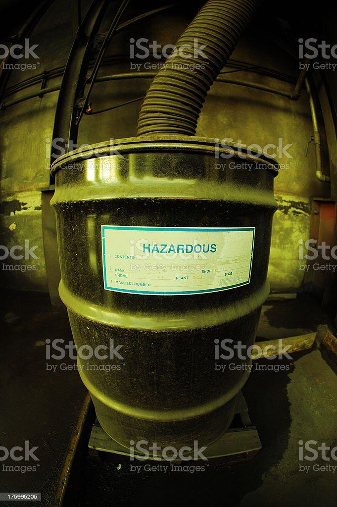 Industrial Hazardous Waste Drum royalty-free stock photo