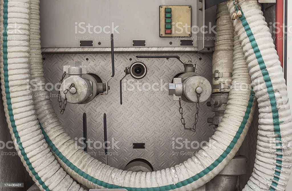 Industrial high pressure valve and taps metal tube royalty-free stock photo