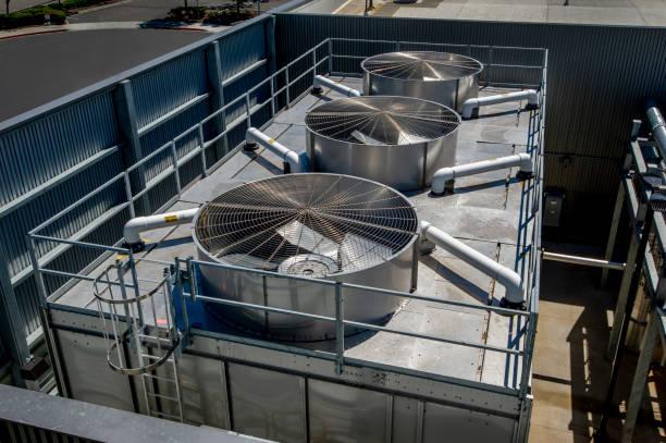 Industrial HVAC Installation stock photo
