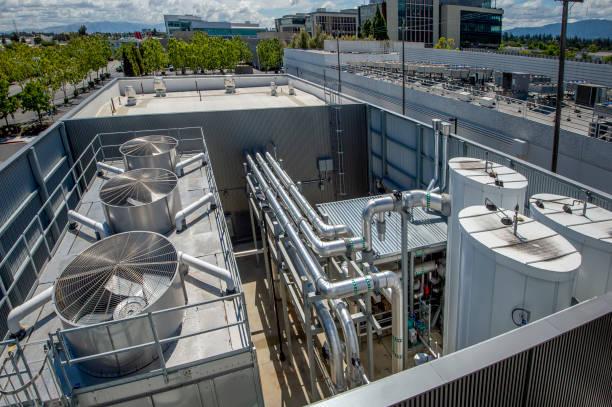 Industrial HVAC stock photo