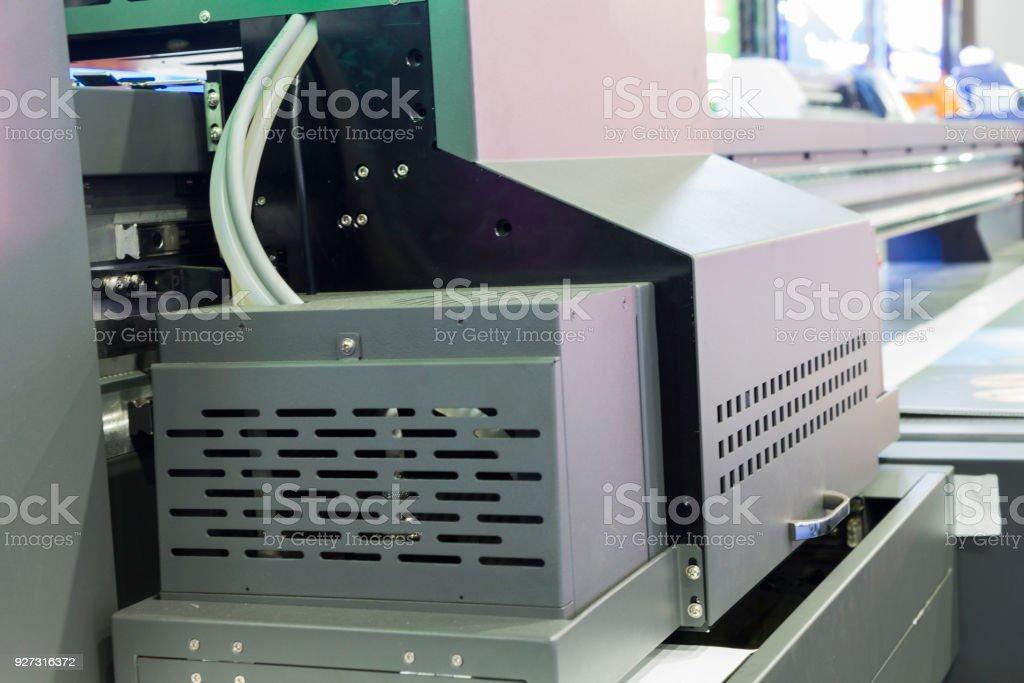 industrial inkjet printing machine stock photo