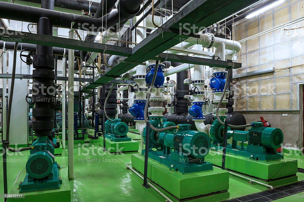 Industrielle Innenraum und Rohren – Foto
