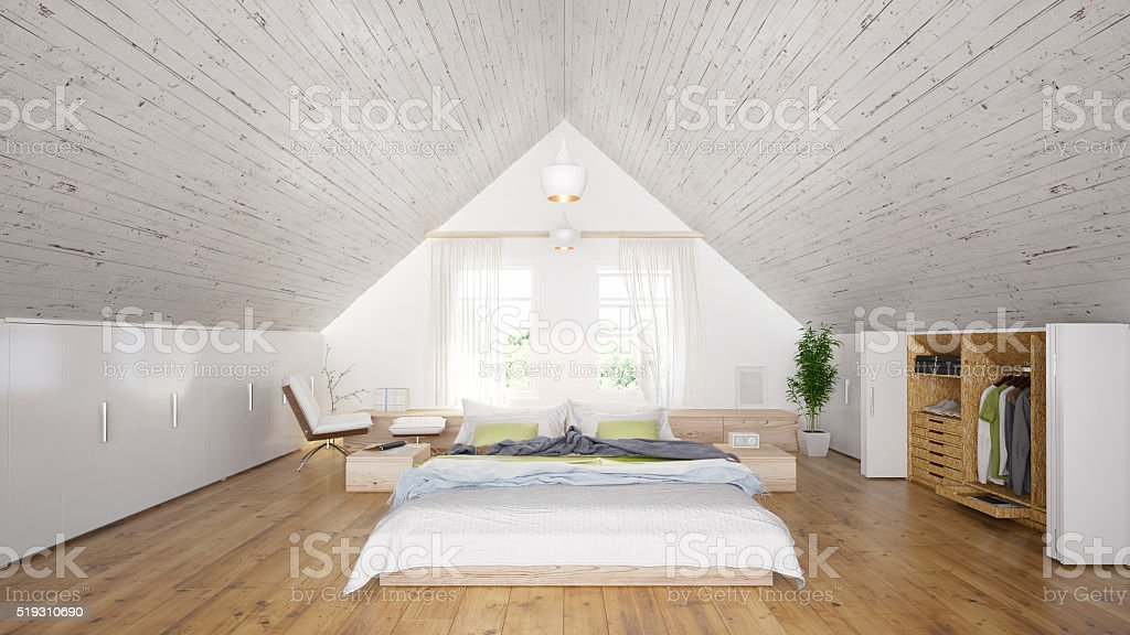 Industrial Interior Design Of Bedroom Stock Photo Download Image Now Istock