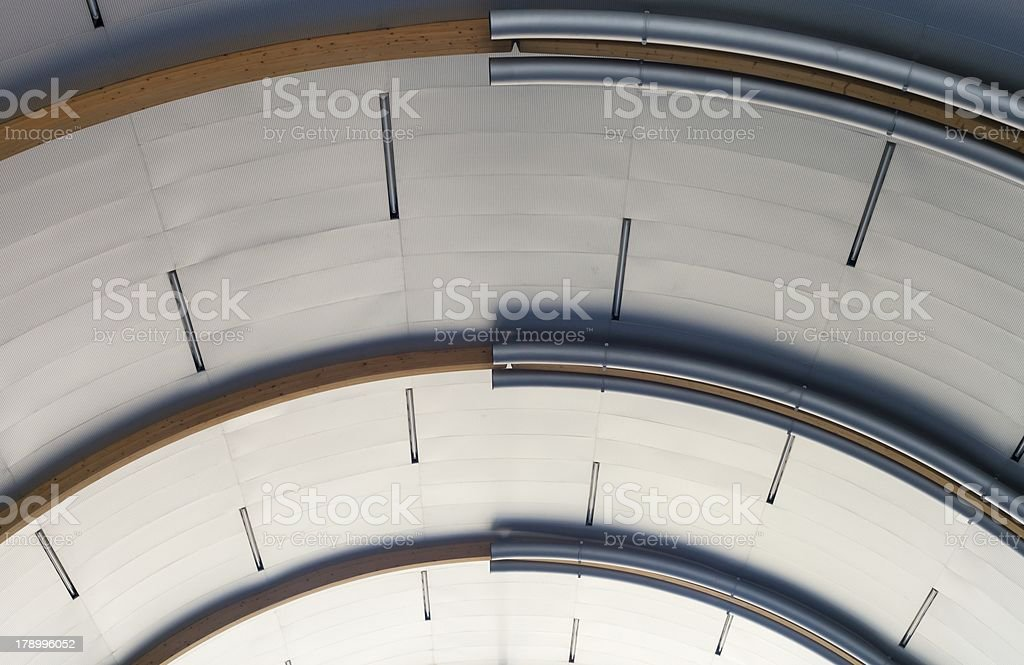 Industrial interior with metal ceiling royalty-free stock photo