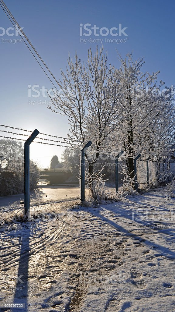 Industrial Jack Frost stock photo
