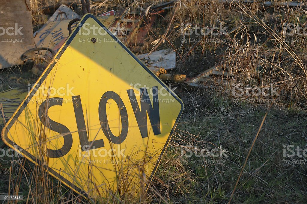 Industrial Junk - sign royalty-free stock photo