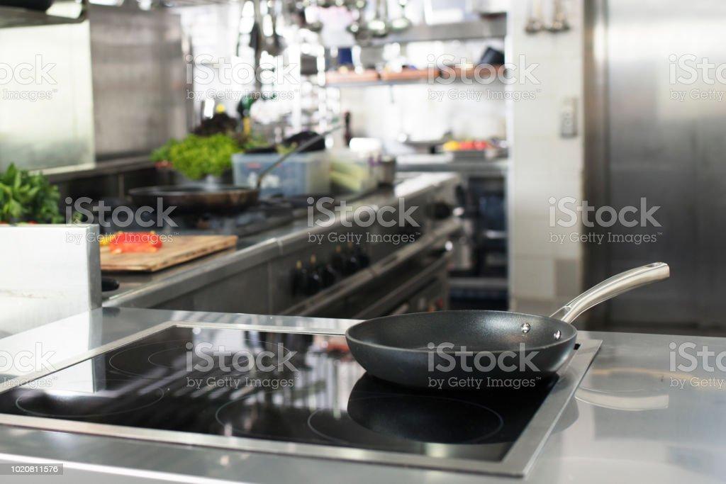 Industrial kitchen. stock photo