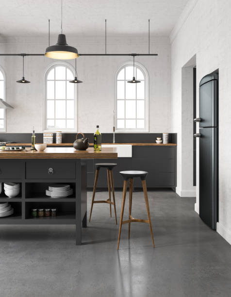 industrial kitchen - nelleg stock photos and pictures