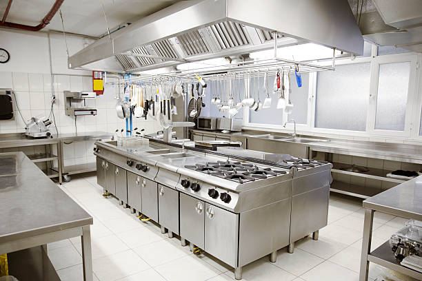 Industrial Kitchen stock photo