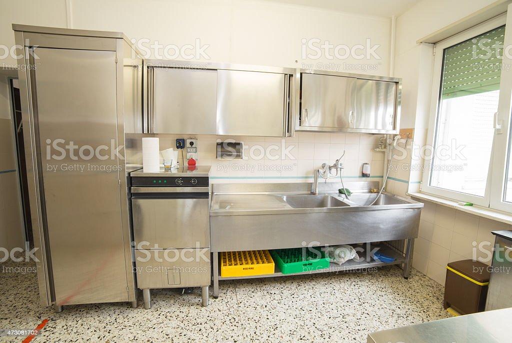 Fotografía de Industrial Cocina Con Refrigerador Lavaplatos Y ...