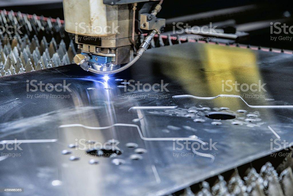 Industrial Laser CNC Cutting Machine stock photo