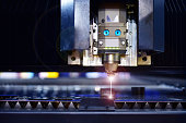 Industrial laser cut machine while cutting the sheet metal industrial