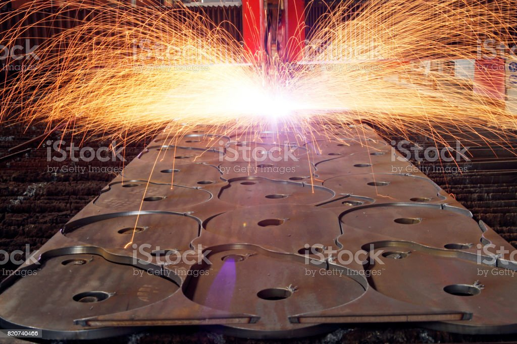 Industrial laser with sparks