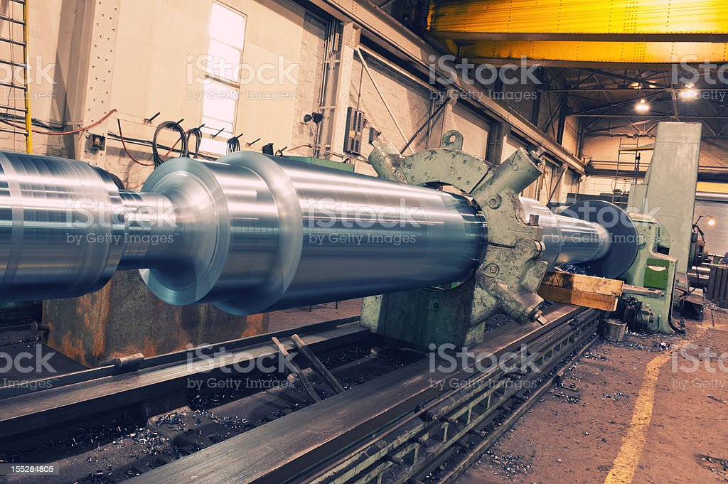 Industrial Lathe royalty-free stock photo