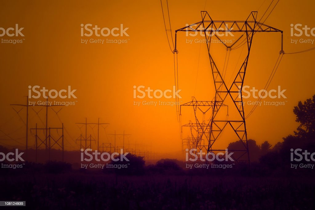 Industrial Lines royalty-free stock photo