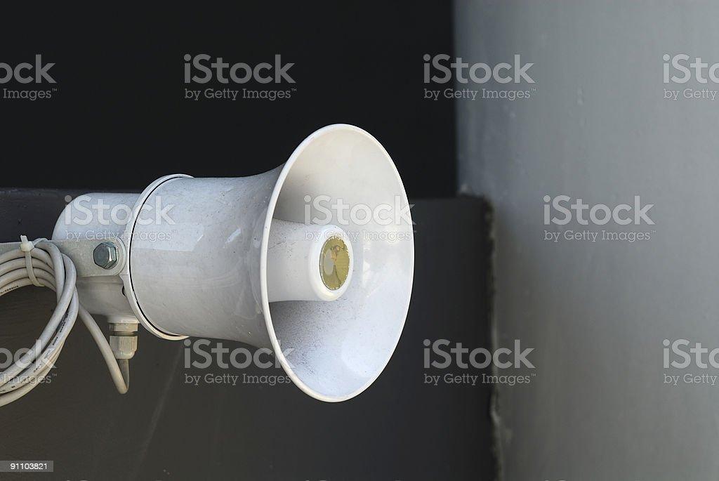 Industrial Loudspeaker stock photo