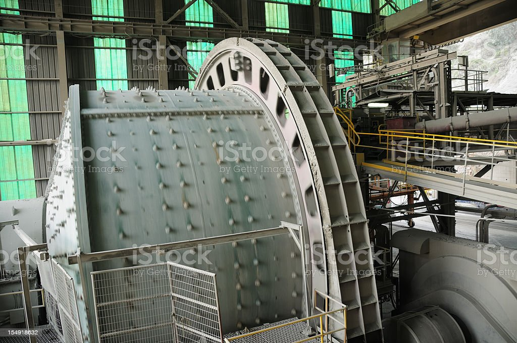 Industrial Machinery - Ball Mill royalty-free stock photo