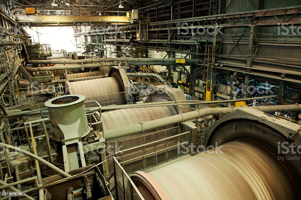 Industrial Machinery - Ball Mills stock photo