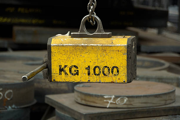 Industrial magnet stock photo
