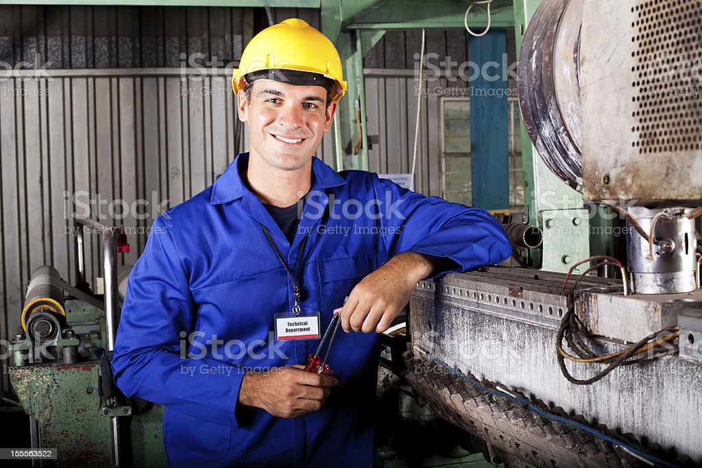 industrial mechanical technician royalty-free stock photo