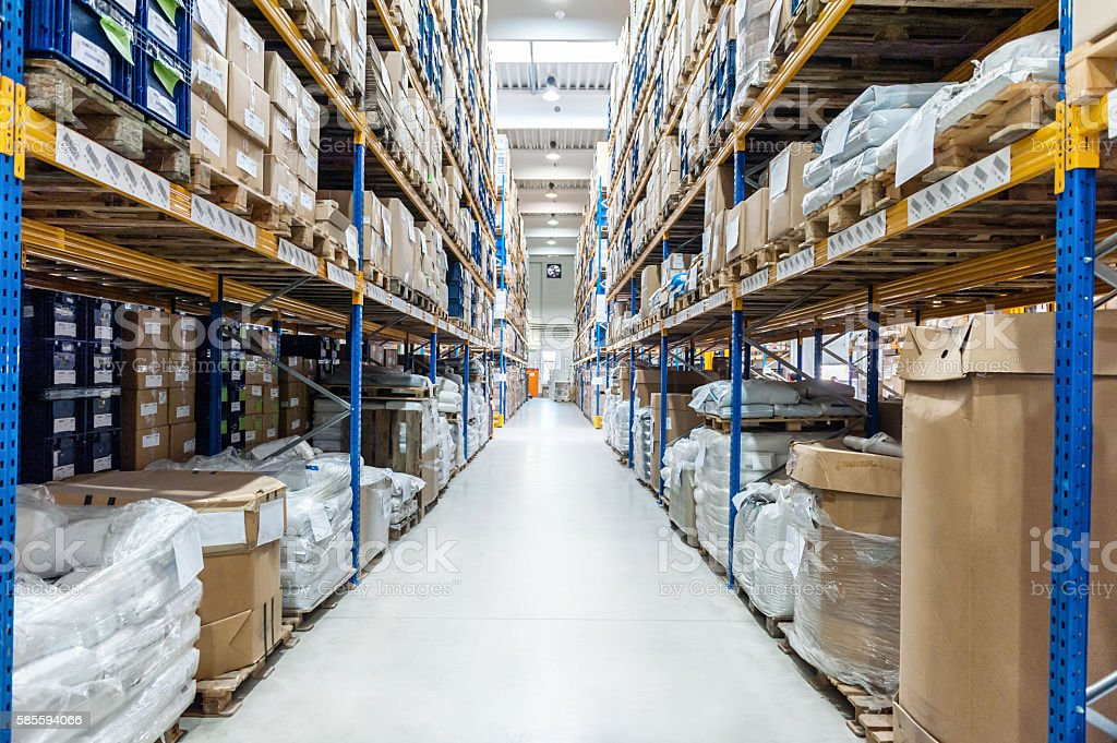 Industrial megastore stock photo