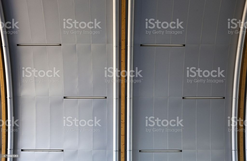Industrial metal ceiling or wall, urban royalty-free stock photo