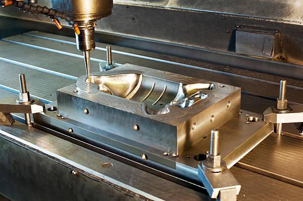 industrial molde de metal de moagem - moldando - fotografias e filmes do acervo